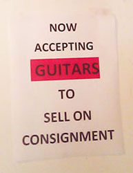 accepting guitars 4 consignment
